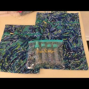 Lilly Pulitzer Travel Set Lingerie Bags & Bottles